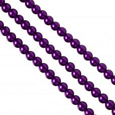 Perły szklane 10mm soczysty fiolet