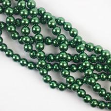 Perły szklane zielone 10mm