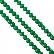 Perły szklane drapane zielone 10mm