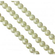 Perły szklane drapane zółte 12 mm