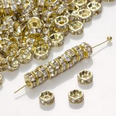 Przekładka z kryształkami rondelek crystal  5mm