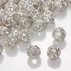 Przekładka oponka z kryształkami crystal 10x12mm