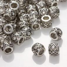 Przekładka oponka z kryształkami antyczna crystal 9x11mm