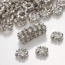 Przekładka oponka z kryształkami falująca crystal 4x11mm