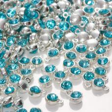 Zawieszka z kryształkiem aquamarine  7mm