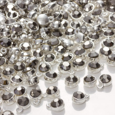 Zawieszka z kryształkiem hematite  7mm