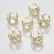Koralik Kryształek w kostce crystal  12mm