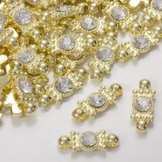 Przekładka z kryształkiem koloru złotego crystal 20,5mm