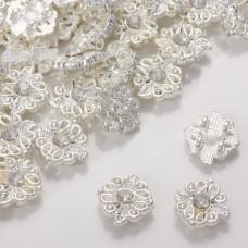 Przekładka z kryształkiem koloru srebrnego crystal  13mm