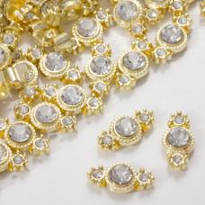 Przekładka z kryształkiem koloru złotego crystal  17mm
