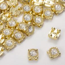 Przekładka z kryształkiem koloru złotego crystal 9mm