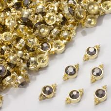 Przekładka z kryształkiem koloru złotego hematite  10mm