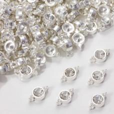 Przekładka z kryształkiem koloru srebrnego crystal  10mm