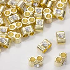 Przekładka z kryształkiem koloru złotego crystal  14mm