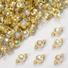 Przekładka z kryształkiem koloru złotego crystal AB  10mm