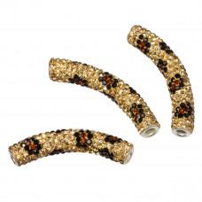 Rurka z kryształkami tygrysia 55x10mm