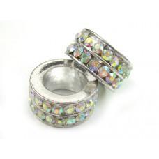 Przekładka z kryształkami crystal AB 10mm