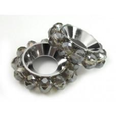 Przekładka z oponkami silver shade 18mm