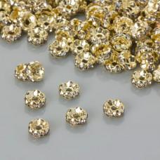 Przekładka rondelek z kryształkami crystal 5mm