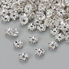 Przekładka rondelek z kryształkami crystal 6mm