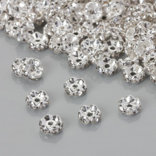 Przekładka rondelek z kryształkami crystal 8mm