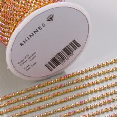 Taśma z kryształkami kolor złoty labrador 2mm