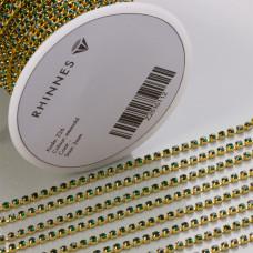 Taśma z kryształkami kolor złoty emerald 2mm