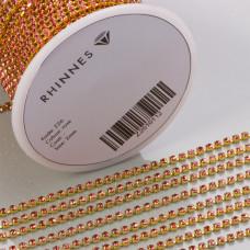 Taśma z kryształkami kolor golden rose 2mm