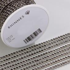 Taśma z kryształkami kolor srebrny jet 3mm