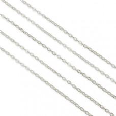 Łańcuszek owal płaski koloru srebrnego 4x2mm