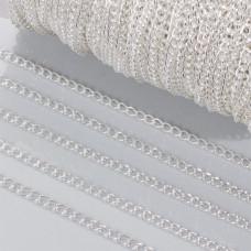 Łańcuch simple w srebrnym kolorze 4mm