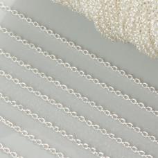 Łańcuszek rollo w kolorze srebrnym 1.5mm