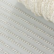 Łańcuszek simple duże oczka w srebrnym kolorze 3mm