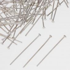 Szpilki z płaską główką w kolorze ciemnego srebra  30mm