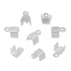 Końcówki do rzemieni i sznurków beczułki w srebrnym kolorze 5mm