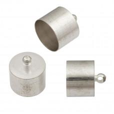 Końcówki do rzemieni kolor srebrny 2,5mm