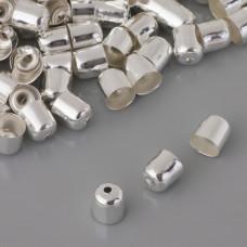 Końcówki do bransoletek naparstki z otworem 6mm