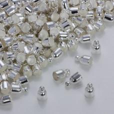 Gładkie końcówki w srebrnym kolorze 4.5mm
