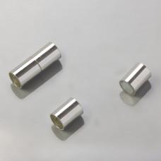 Zapięcie magnetyczne rurki srebrny 8mm