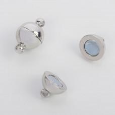 Zapięcie magnetyczne kulka srebrne 10mm