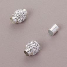 Zapięcie magnetyczne z kryształkami crystal 6mm
