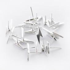 Srebrne kolczyki pioruny AG925 18x5mm