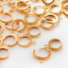 Srebnre bigle okrągłe kajdanki AG925 złocone 13,5mm