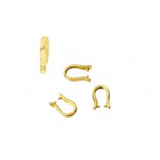 Srebrna krawatka do swarovskiego podkowa złocona
