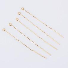 Baza kolczyka łańcuszek z patyczkiem AG925 srebrna 7cm
