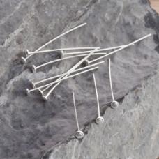 Szpilki srebrne talerzyki 3cm, Ag925