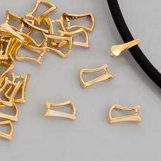 Krawatka do zawieszek, Ag 925,  pozłacana 10mm