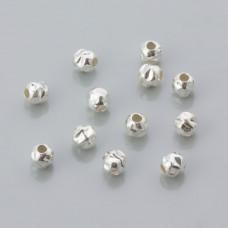 Kulki srebrne młotkowane 4mm, próba Ag925