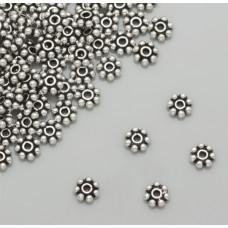 Srebrne przekładki kwiatki bali 4mm