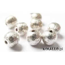 Kulki srebrne satynowe 6mm